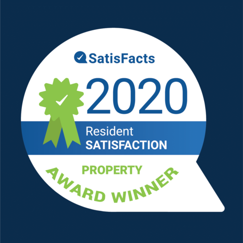 Brandywine received the Resident Satisfaction Award for 2020 from Satisfacts.